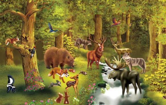 Puzzle Nivel 2: Animales del bosque   Recurso educativo