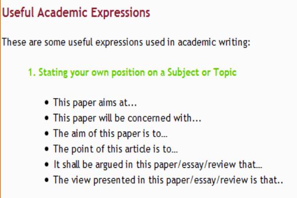 useful expression argumentative essay