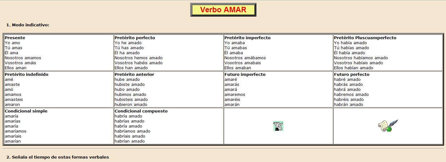 verbo primera conjugacion:
