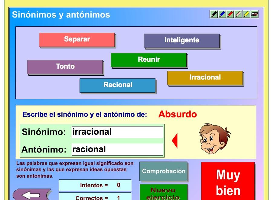 Los sinónimos y los antónimos | Recurso educativo 37326 ... - photo#5