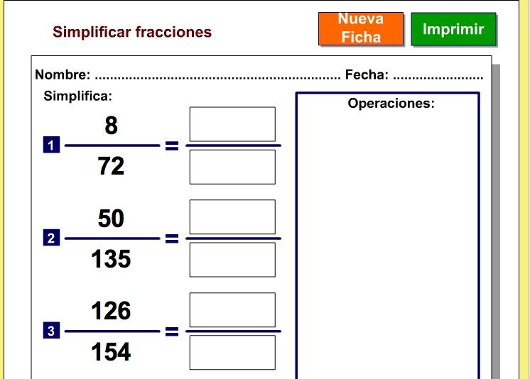 Amplificación Y Simplificación De Fraccionarios Feb 3 Lessons Blendspace