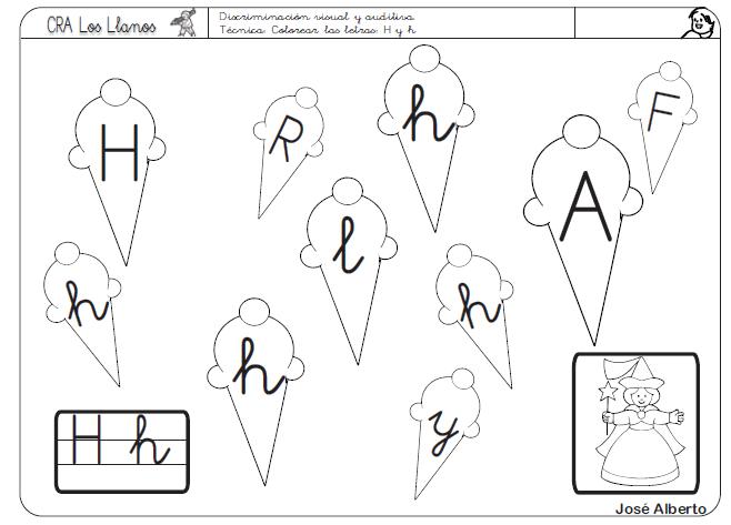 Discriminación Visual H Recurso Educativo 39673 Tiching