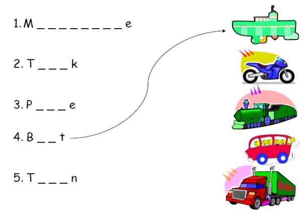 Means of transport : Recurso educativo 39870 - Tiching