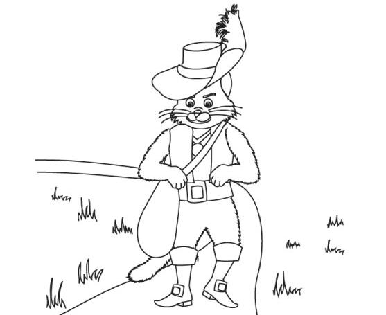 Colorear cuentos: El Gato con Botas | Recurso educativo 39954