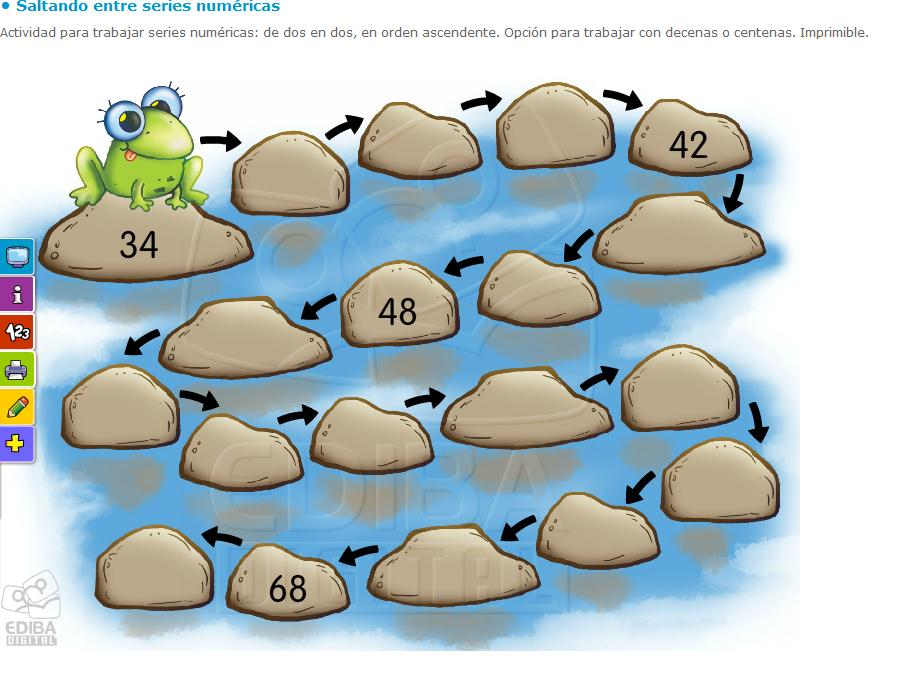 Saltando entre series numéricas | Recurso educativo 40370 - Tiching