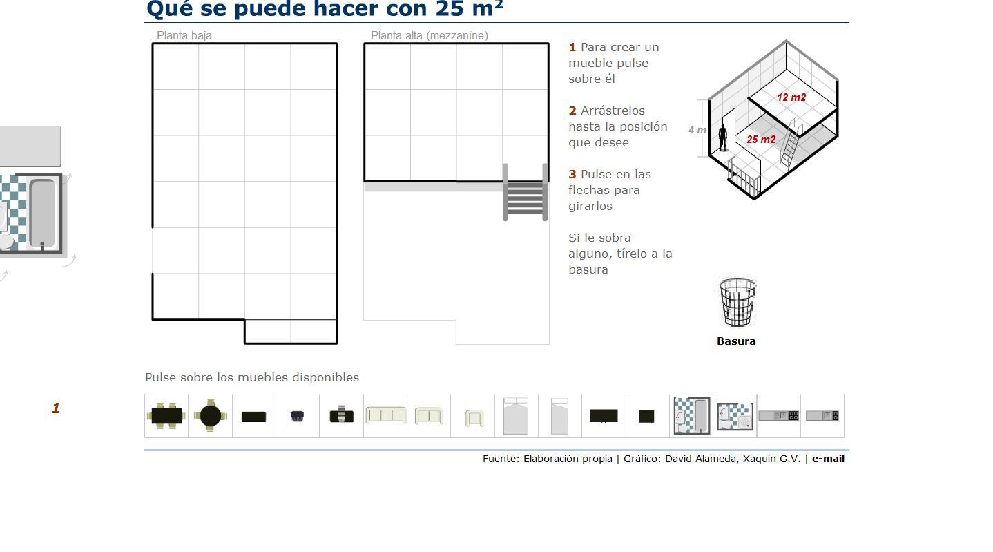 Casas de 25 metros cuadrados recurso educativo 41768 for Planos de cocinas de 15 metros cuadrados