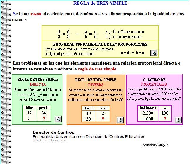 ejercicios de regla de tres compuesta pdf