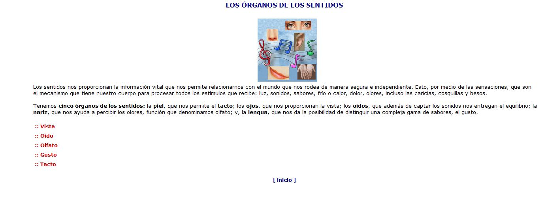 Los órganos de los sentidos | Recurso educativo 46663 - Tiching