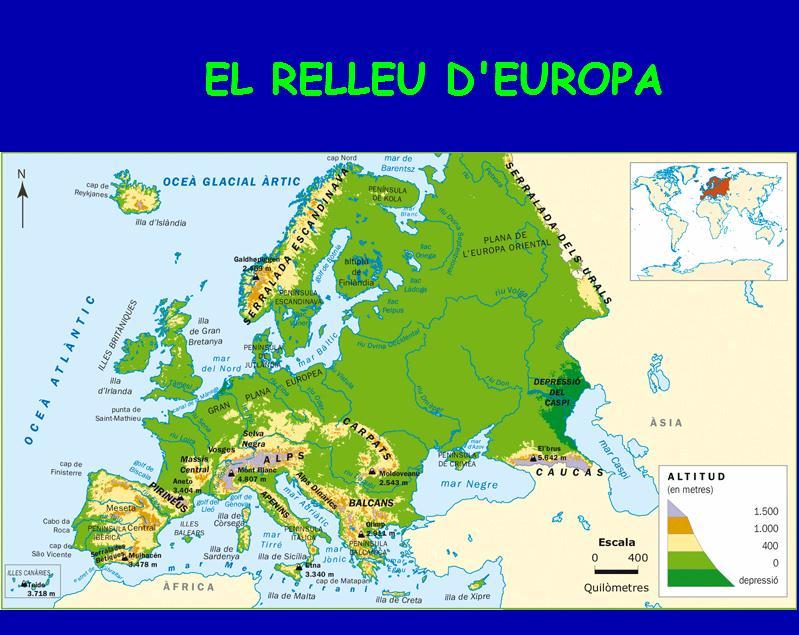 Mapa Fisic D Europa Rius.Els Paisatges D Europa Recurso Educativo 47435 Tiching