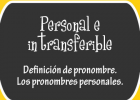 Personal e intransferible | Recurso educativo 47997