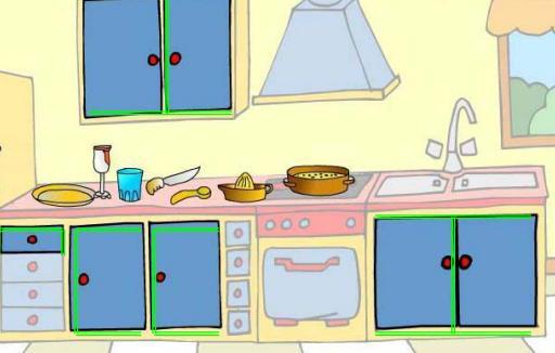 Ficha localiza los objetos de la cocina recurso - Objetos de cocina ...