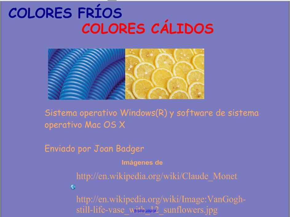 Colores frios y c lidos recurso educativo 49231 tiching - Colores calidos frios ...