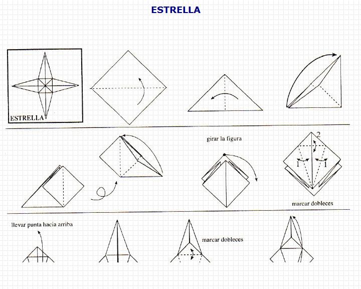 Origami estrella recurso educativo 49738 tiching - Origami de una estrella ...