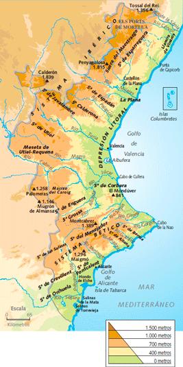 Mapa Rios Comunidad Valenciana.Comunidad Valenciana Recurso Educativo 71026 Tiching