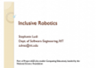 Strategies for Inclusion in Robotics | Recurso educativo 76302