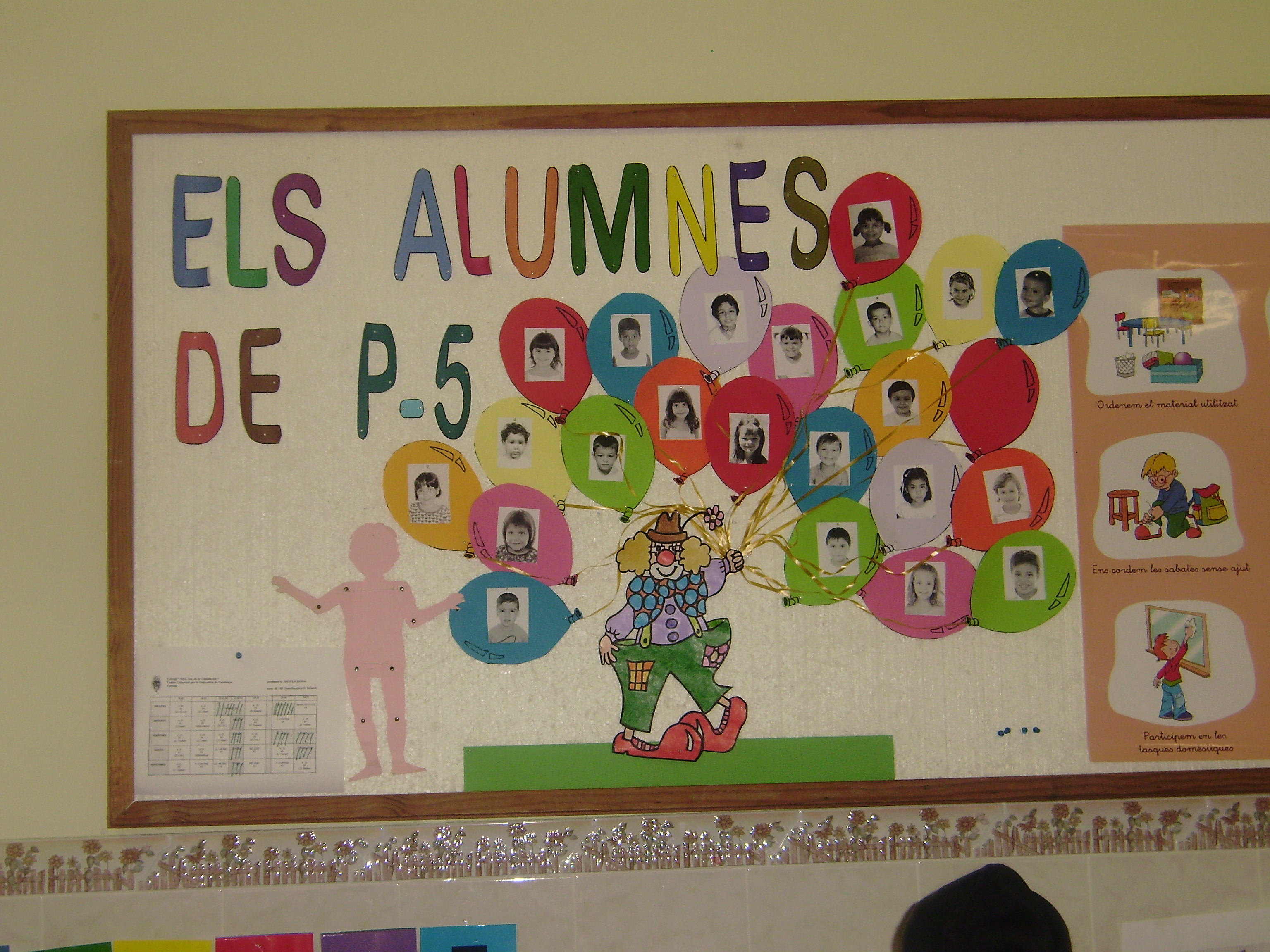 Mural de alumnos recurso educativo 90468 tiching for Murales infantiles para pared