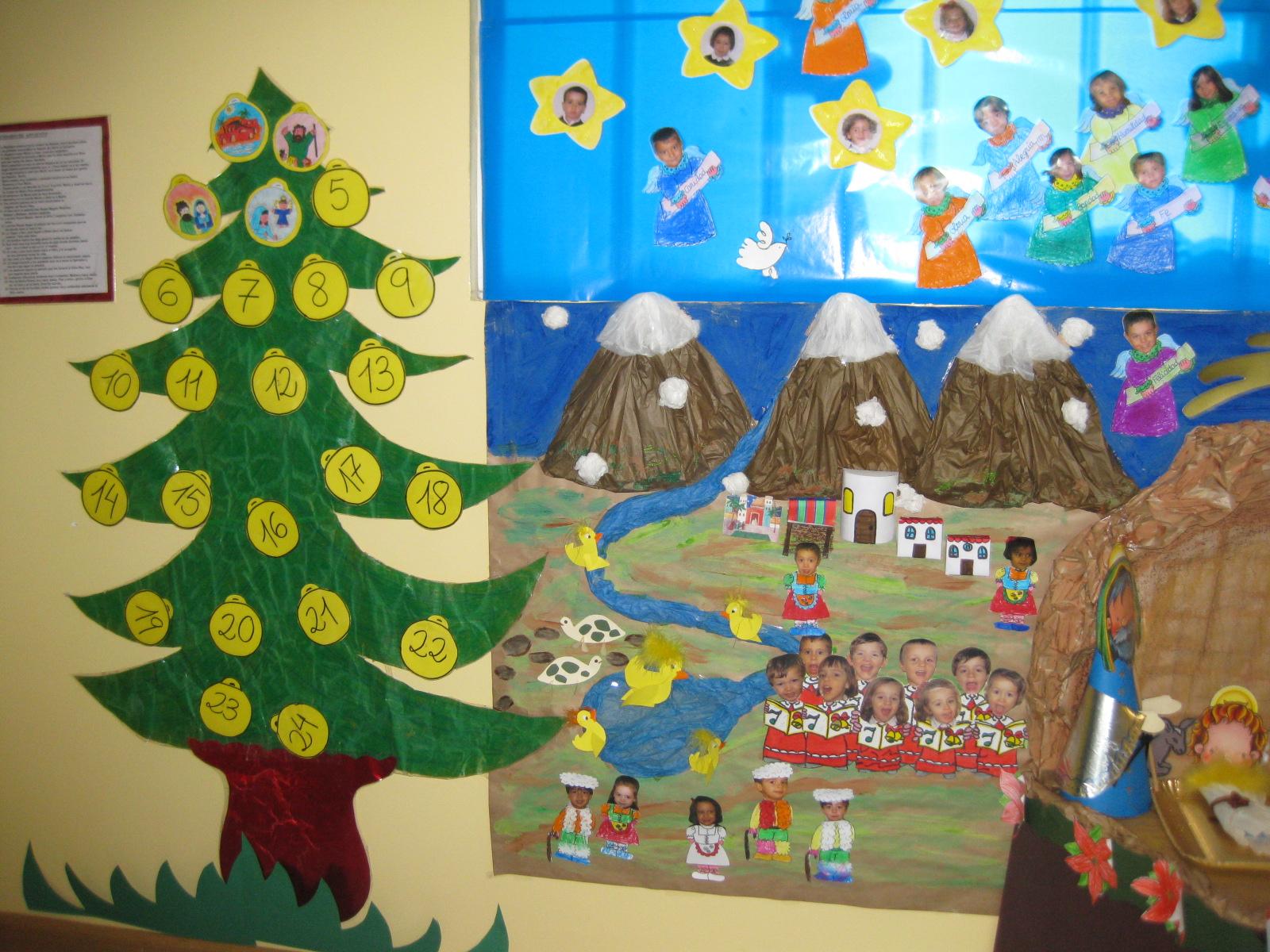 Mural de navidad recurso educativo 90771 tiching - Mural navidad infantil ...