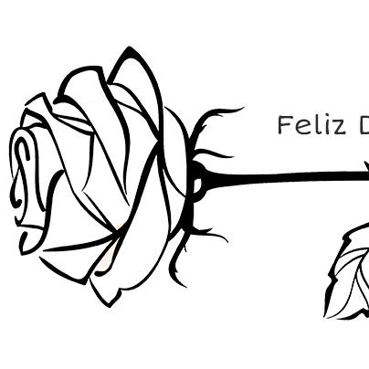 Una rosa para pintar y regalar el Día del Libro | Recurso educativo ...