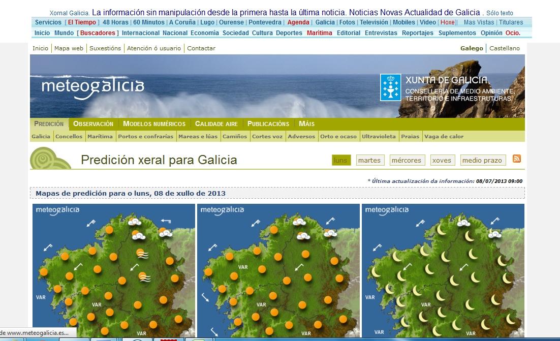 El tiempo en las localidades de galicia a coru a lugo - El tiempo en parga lugo ...