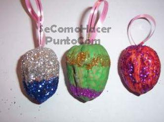 Manualidades bolas de navidad con nueces recurso - Bolas arbol navidad manualidades ...