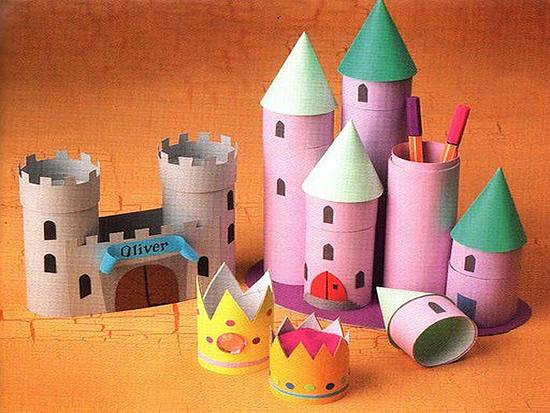 C mo hacer un castillo con tubos de cart n actividades - Castillos para ninos de infantil ...