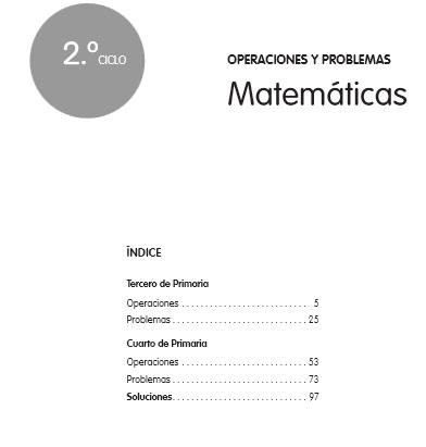 Cuadernos de matemáticas 3º y 4º primaria para descargar ...
