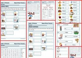Fichas de inglés para cuarto de primaria | Recurso educativo 403749 ...