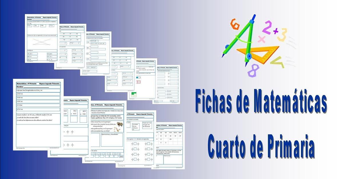 Recursos educativos: Ejercicios Matemáticas Cuarto Primaria ...