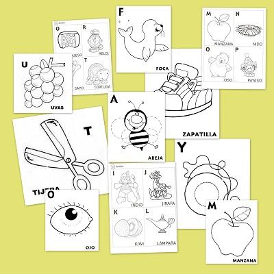 Fichas de abecedario para aprender y colorear | Recurso educativo ...