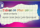 Tablas de multiplicar | Recurso educativo 768887