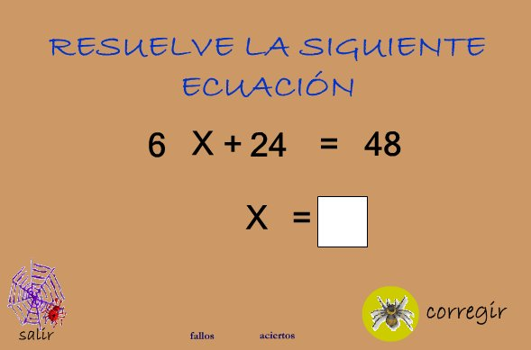 Ecuaciones de primer grado recurso educativo 42608 tiching for Ecuaciones de cuarto grado