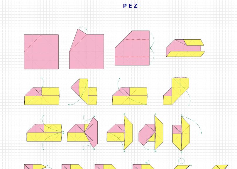 origami pez recurso educativo 49547 tiching