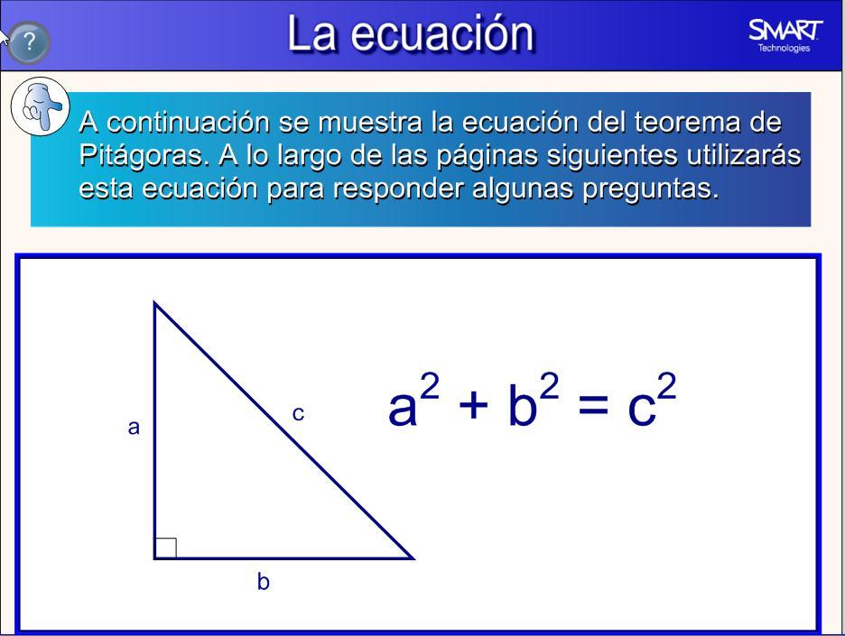 teorema de pitagoras 3 recurso educativo 50689 tiching