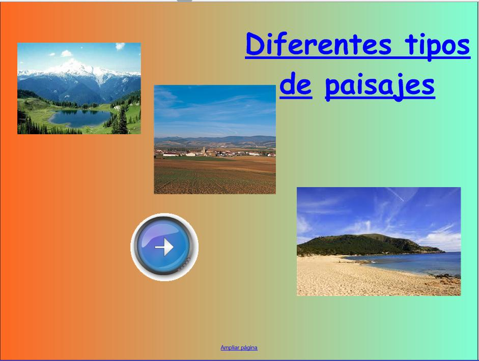 Paisajes recurso educativo 50742 tiching - Tipos de paisajes ...