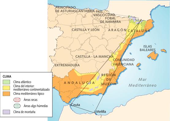Espa a mediterr nea litoral recurso educativo 70201 for Clima mediterraneo de interior
