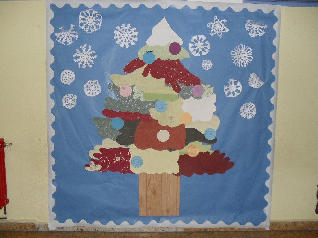 Rbol navide o patchwork recurso educativo 92120 tiching for Mural navideno