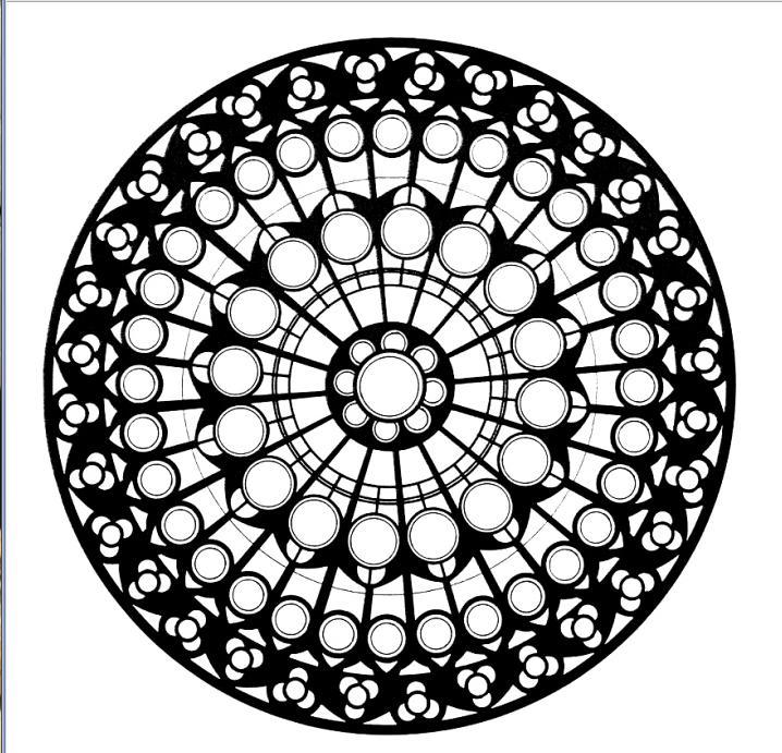 Mandalas de rosetones de iglesias para colorear recurso - Coloriage de rosace a imprimer ...