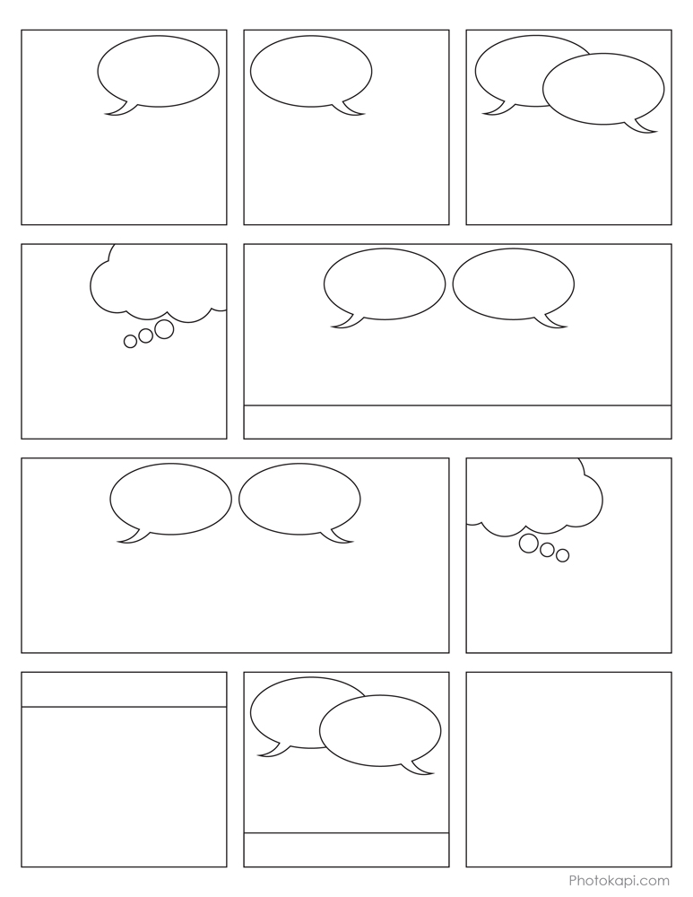 Free coloring pages of comic strips for Comic strip coloring pages