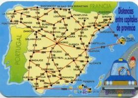 mapa de distancias Distancias entre capitales españolas   Recurso educativo 728817  mapa de distancias